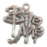 Bite Me Sterling Silver Charm / Pendant